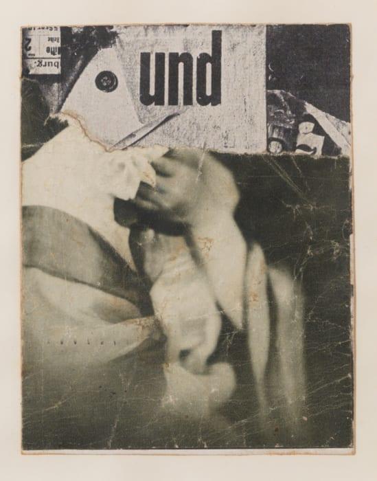 Ohne Titel (Collagierte Bildpostkarte Das Undbild) by Kurt Schwitters