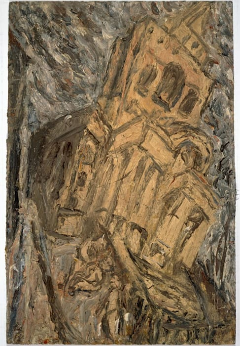Christchurch, Winter Evening by Leon Kossoff