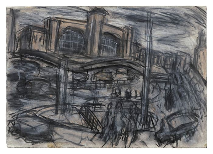 King's Cross Stormy Day No.1 by Leon Kossoff