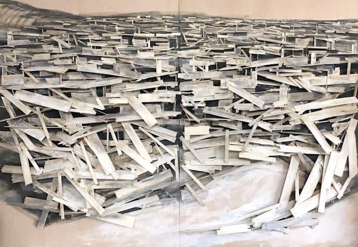 Destruction No.9 by Tadashi Kawamata