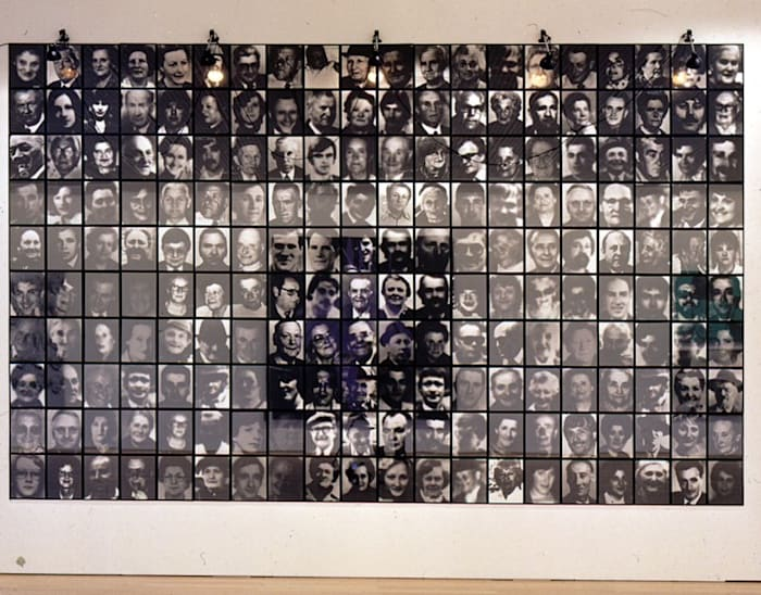 Les Suisses Morts by Christian Boltanski