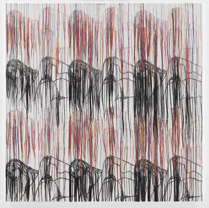 Landscape with Black Mountains - RFGA by Ghada Amer