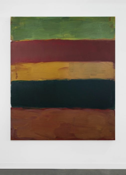 Landline Green Fall by Sean Scully