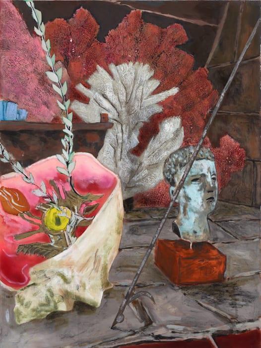 Bloomsbury revisited (fireplace, Little Havana) by Hernan Bas
