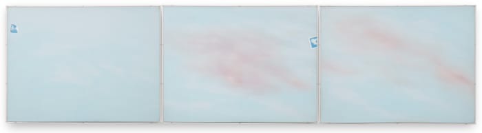 Photo Cloud Triptych by Joe Goode