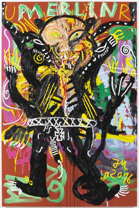 """JA, ""EXCALIBUR DE BURSCHNS"" IST ""LE CHEF DE L'ART"",BLITZARTIGST..."" by Jonathan Meese"