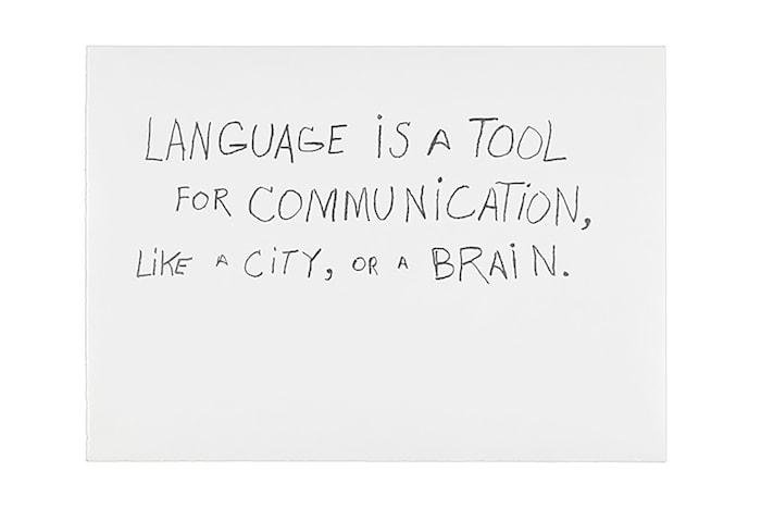 Language is a Tool for Communication by Jimmie Durham