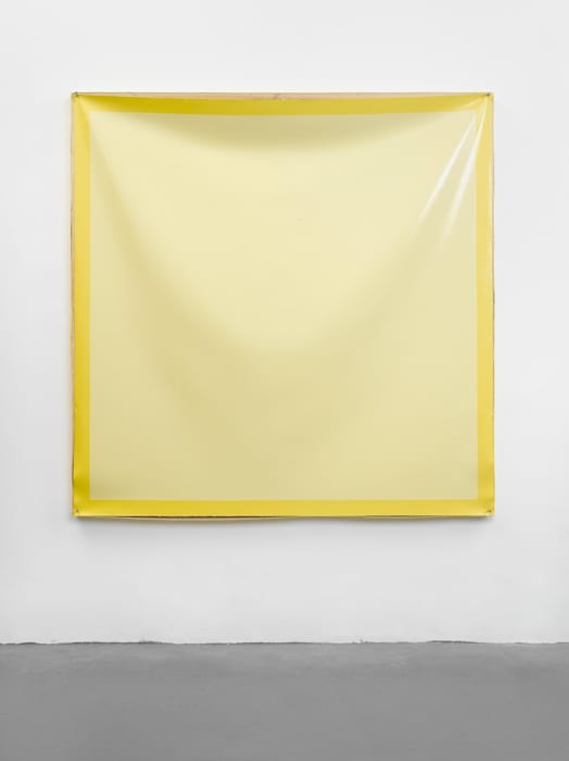 Painting with a Painting Cover (Yellow) by Angela de la Cruz
