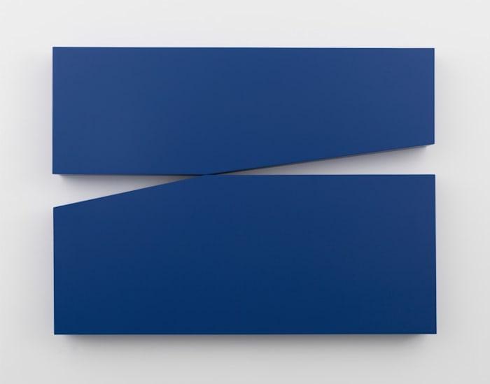 Untitled Estructura (Blue) by Carmen Herrera