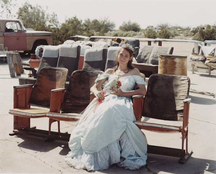 Queen of the Prom, the Range Night Club, Slab City, California, March 2005. by Joel Sternfeld