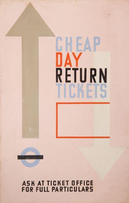 Cheap day Return Tickets by Grete Stern