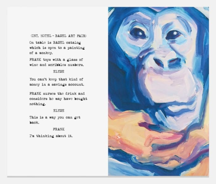 Movie Scripts / Art: Frank nurses the drink by John Baldessari