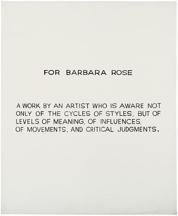For Barbara Rose by John Baldessari