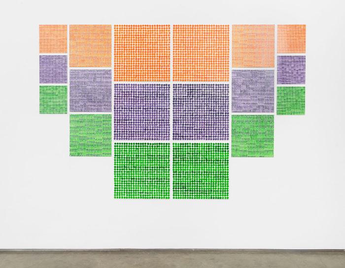 Small, Medium, Large (secondary) by Jennifer Bartlett