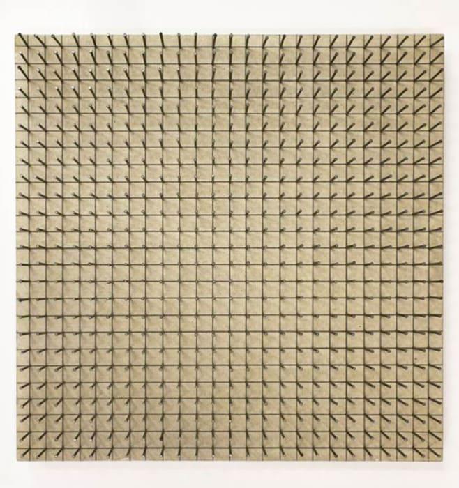 Räumliche Struktur (Serial Alignment) by Günther Uecker