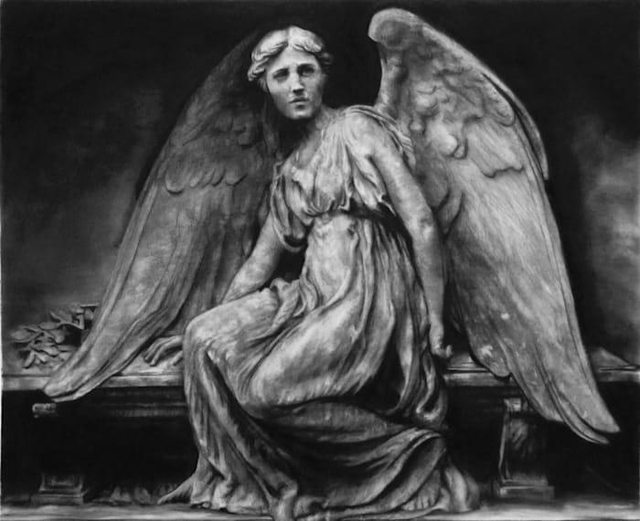 Study of Stone Angel (Woodlawn Cemetery-Bronx, NY) by Robert Longo