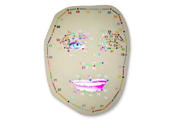 Ex}•t (white) by Tony Oursler