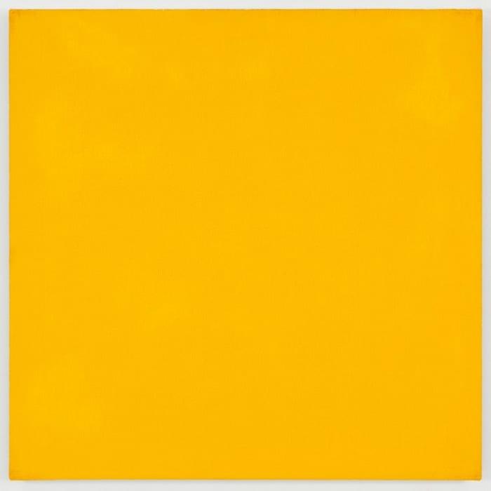 Mass Tone Painting: Chrome Yellow Medium, Jan 14, 1974 by Marcia Hafif