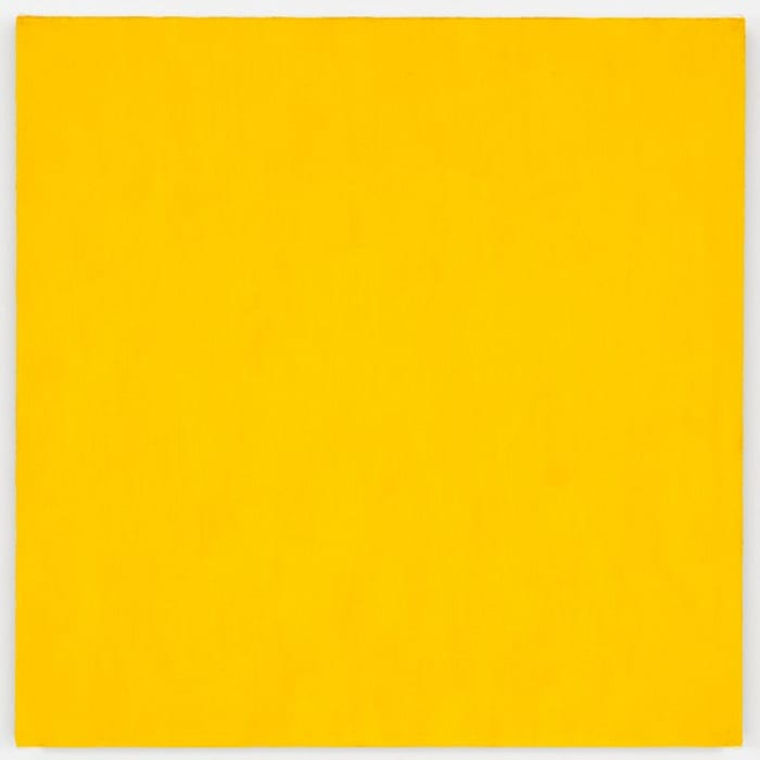 Mass Tone Painting: Cadmium Yellow Medium, Oct 2, 1973 by Marcia Hafif