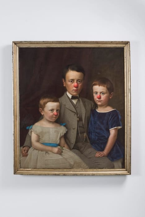 Family with red noses by Hans-Peter Feldmann