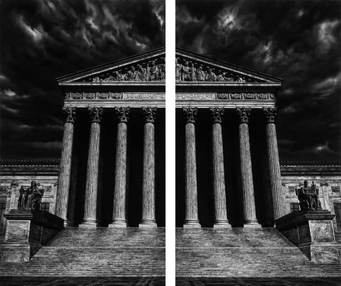 Untitled (The Supreme Court of the United States (Split)) by Robert Longo