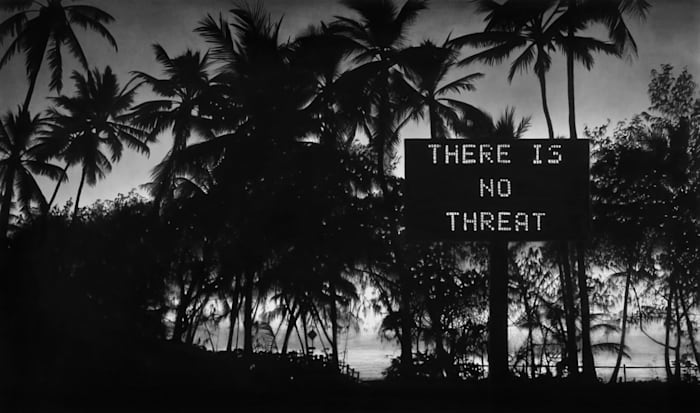 Untitled (No Threat) by Robert Longo