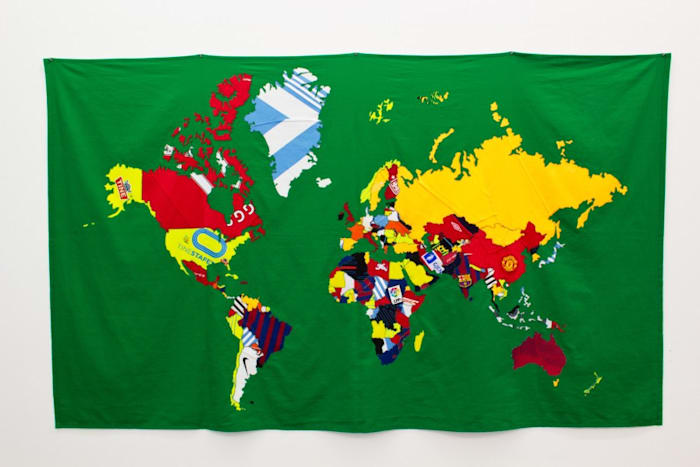 The world in Football Shirts Too by Jonathan Monk