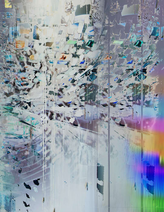 Afterimage, Silver (Painting in its Archive) DETAIL by Sarah Sze