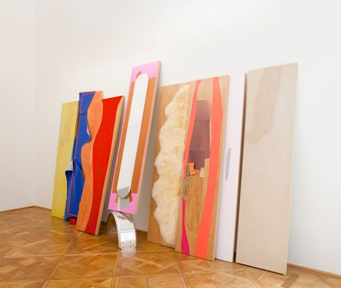 Decals Roam to Move by Jessica Stockholder