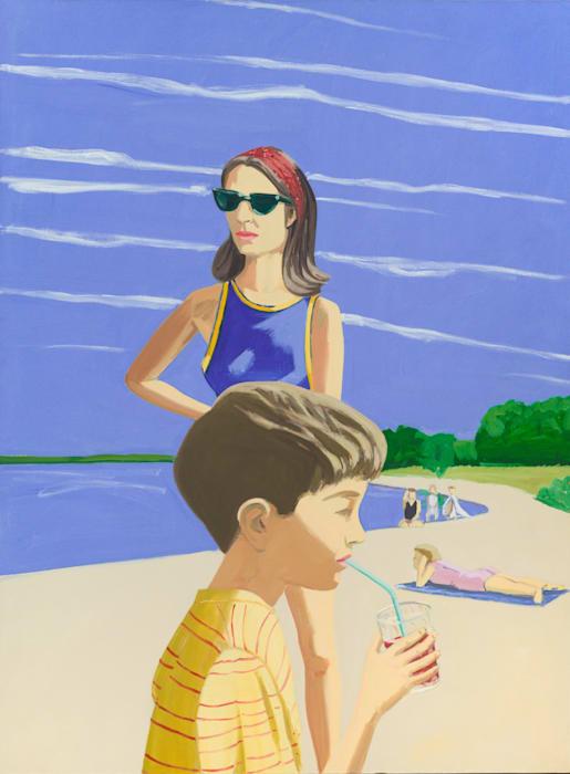 Beach Scene by Alex Katz