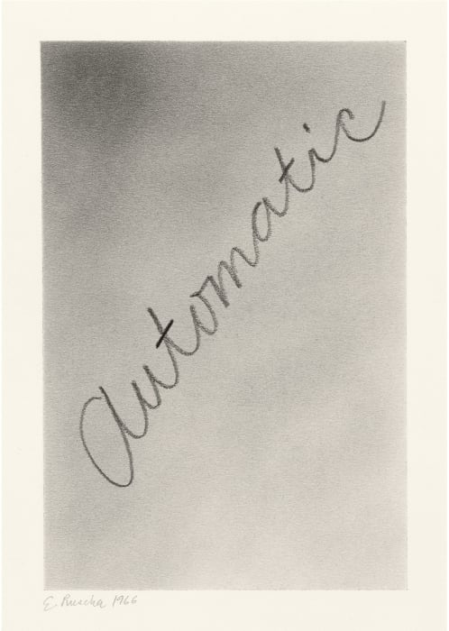 Automatic by Ed Ruscha