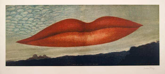 A l'heure de l'observatoire: les amoureux by Man Ray