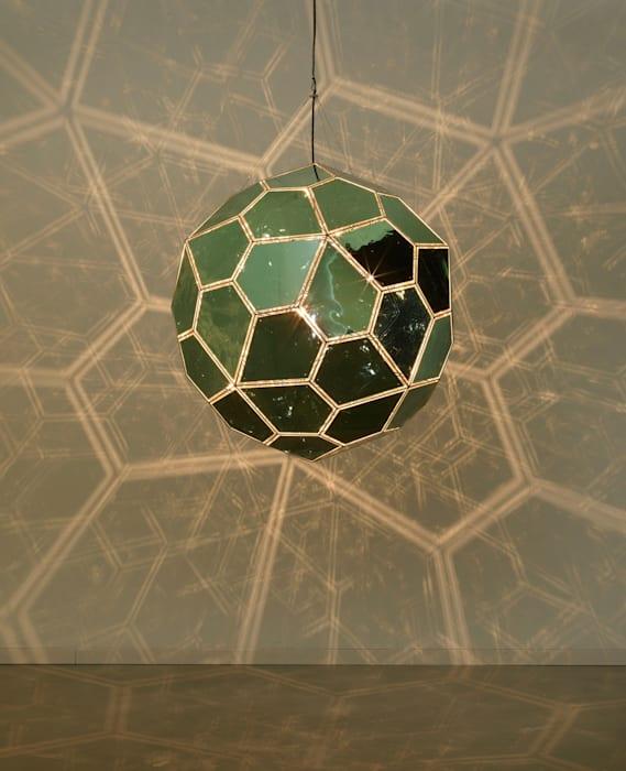 Solar surface (jade, silver) by Olafur Eliasson