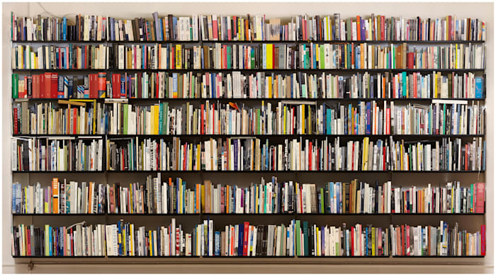 Seven Shelves of Books (Stitched) by Simon Starling