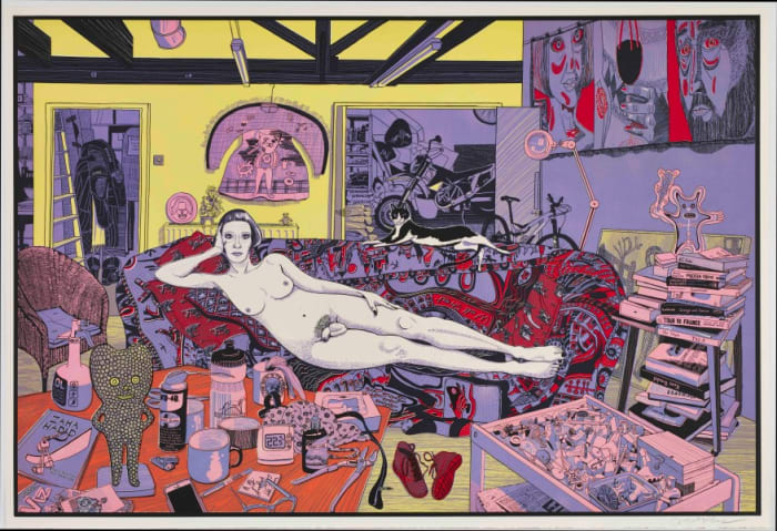 Reclining Artist by Grayson Perry