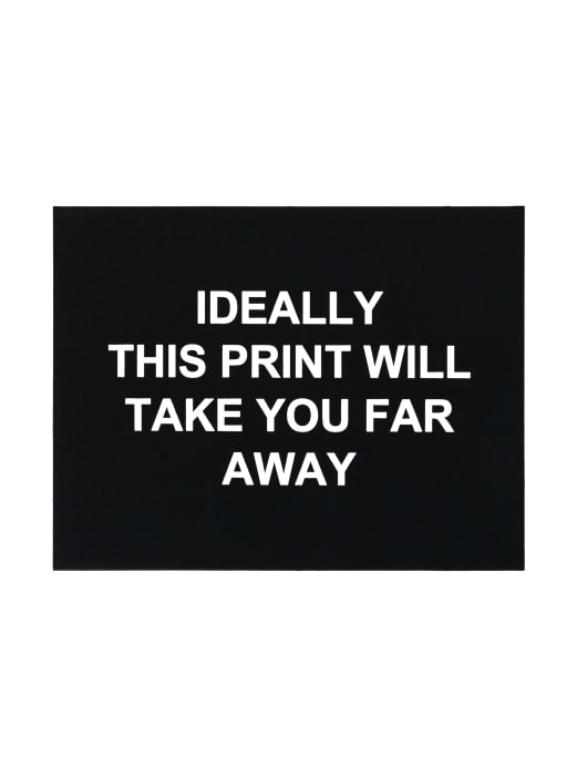Ideally this print will take you far away by Laure Prouvost