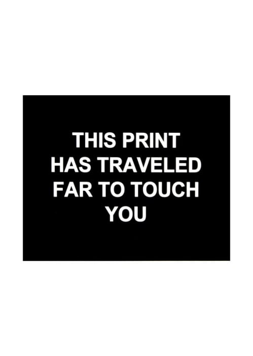 This print has traveled far to touch you by Laure Prouvost