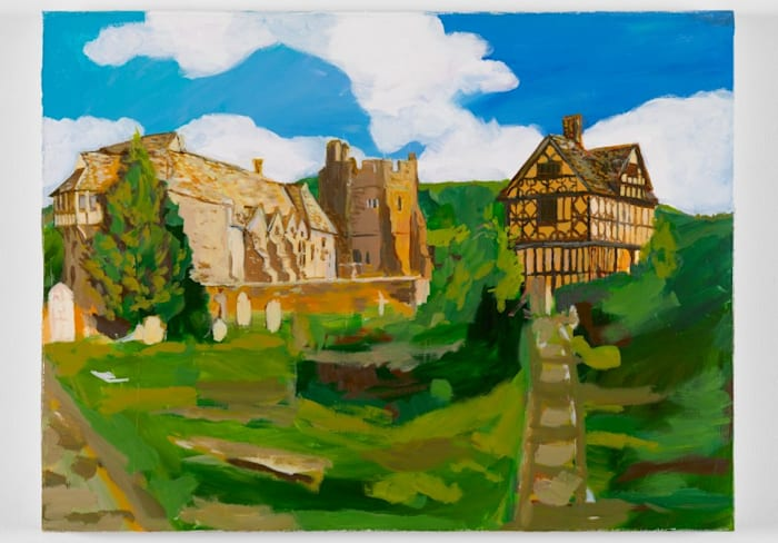 my village in england - (the whole village is mine) by Karen Kilimnik