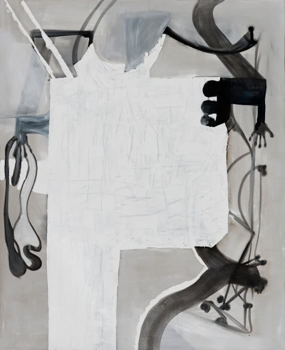 Untitled (white & hand) by Tobias Pils