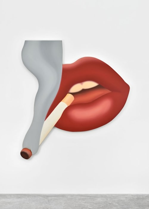 Smoker #3 (Mouth #17) by Tom Wesselmann