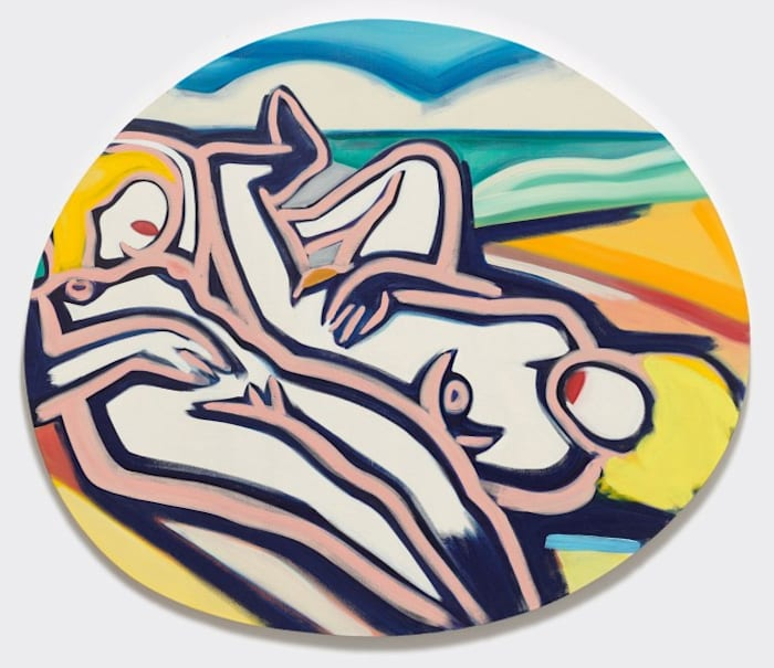 Two Blondes on the Beach (II) by Tom Wesselmann