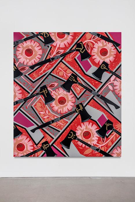 Portrait of a Textile (Brocade) by Lari Pittman