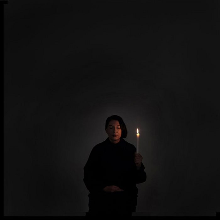 Artist Portrait with a Candle, from the series With Eyes Closed I See Happiness by Marina Abramović