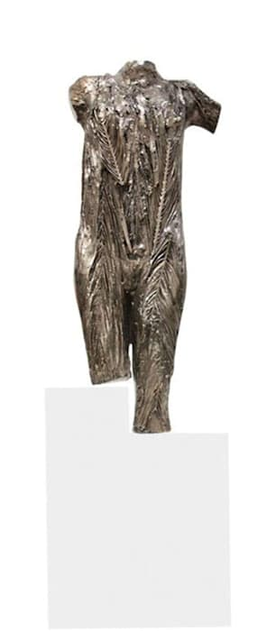 Palm leaves torso by Vanessa Beecroft