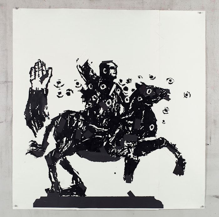 The Black Rider II by William Kentridge