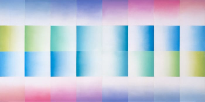 Evening Fan from Fresno Fans series by Judy Chicago