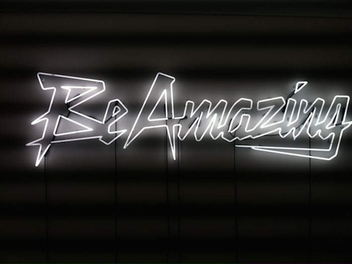Be Amazing (White) by Sylvie Fleury