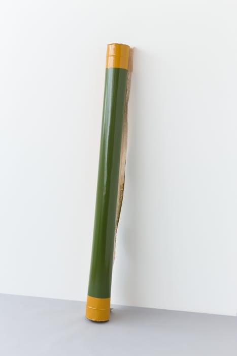 Roll (Green/Ochre) by Angela de la Cruz