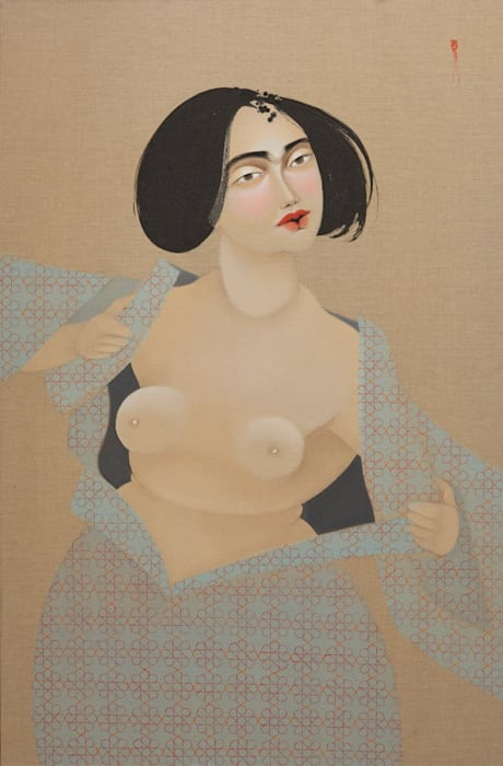 Donate Money and I'll Show You My Boobs by Hayv Kahraman