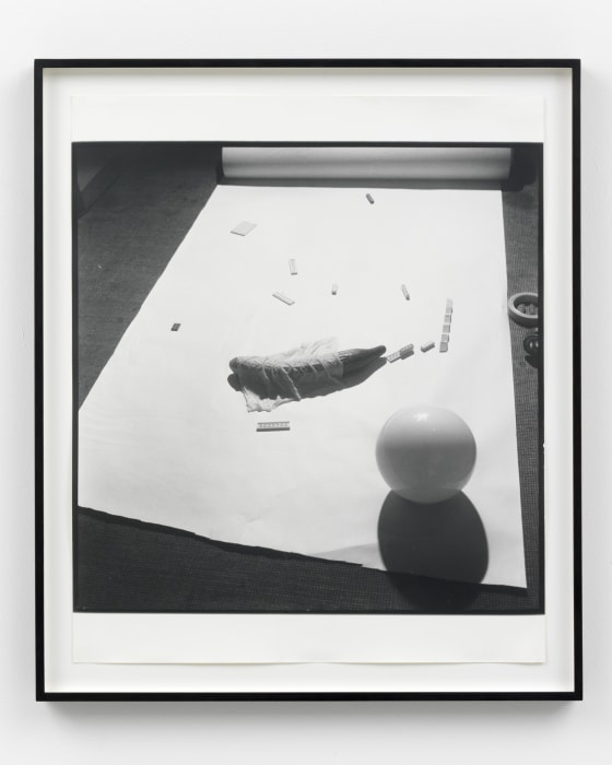 Untitled (Cucumber with sphere) by Sigmar Polke